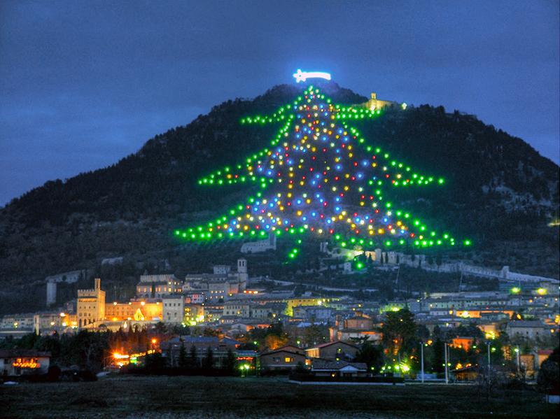 Alberi di Natale più belli d'Europa: Gubbio
